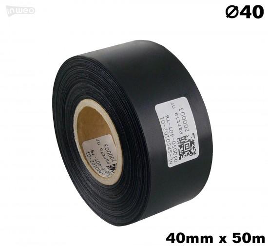 Czarna taśma satynowa premium 40mm x 50mb