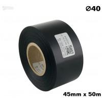 Czarna taśma satynowa premium 45mm x 50mb
