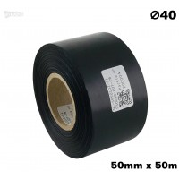 Czarna taśma satynowa premium 50mm x 50mb