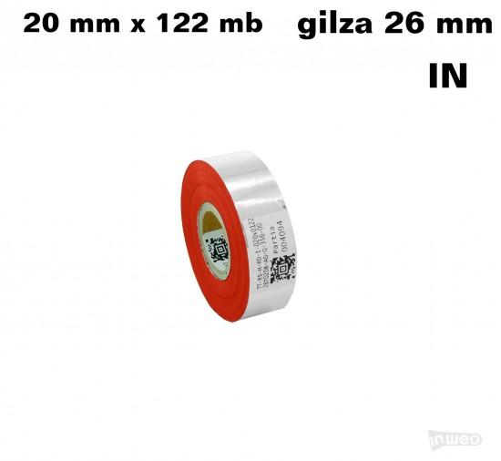 Czerwona folia hotstamping  20x122IN