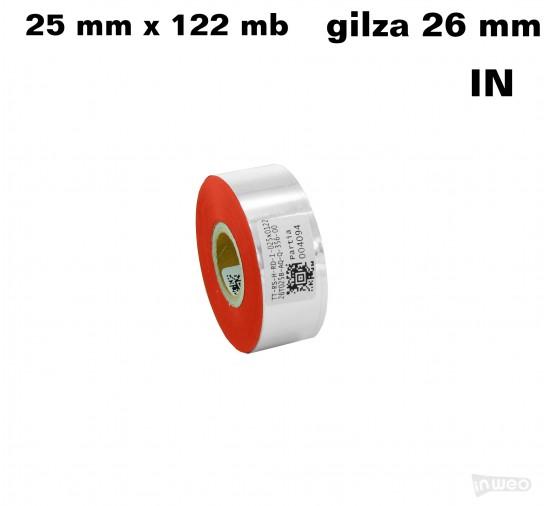 Czerwona folia hot stamping 25x122IN