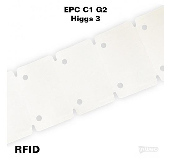 Zawieszka RFID wysokotemperaturowa, 85 x 55 x 0,5, EPC C1 G2, Higgs 3