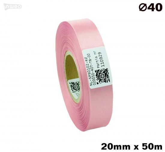 Różowa taśma satynowa premium 20mm x 50mb