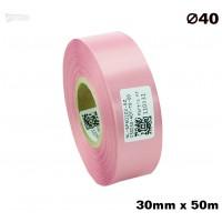 Różowa taśma satynowa premium 30mm x 50mb