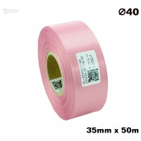 Różowa taśma satynowa premium 35mm x 50mb