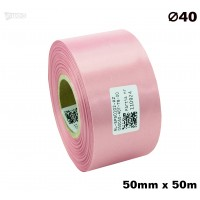 Różowa taśma satynowa premium 50mm x 50mb