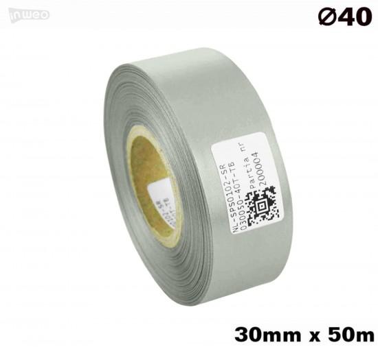 Srebrna taśma satynowa premium 30mm x 50mb