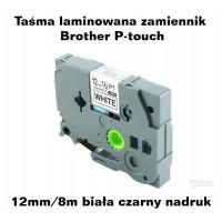 Taśma laminowana Brother P-touch TZ - 12mm/8m biała czarny nadruk TZ231 Produkty