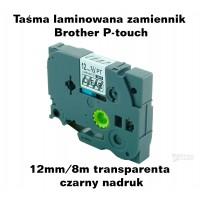 Taśma laminowana Brother P-touch TZ - 12mm/8m transparentna czarny nadruk TZ2-131 Produkty