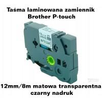 Taśma laminowana Brother P-touch TZ - 12mm/8m matowa transparentna czarny nadruk TZ2-M31 Produkty