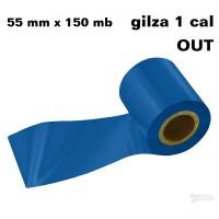 Granatowa taśma termotransferowa żywiczna do tekstyliów 55x150 OUT
