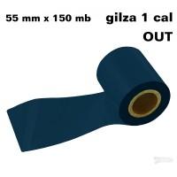 Niebieski opal taśma termotransferowa żywiczna do folii 55x150 OUT